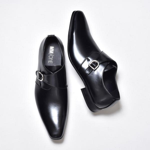 ビジネスシューズ メンズ 合成革靴 モンクストラップ ローファー プレーントゥ スリッポン 紳士 おしゃれ 春|sansuiya|06