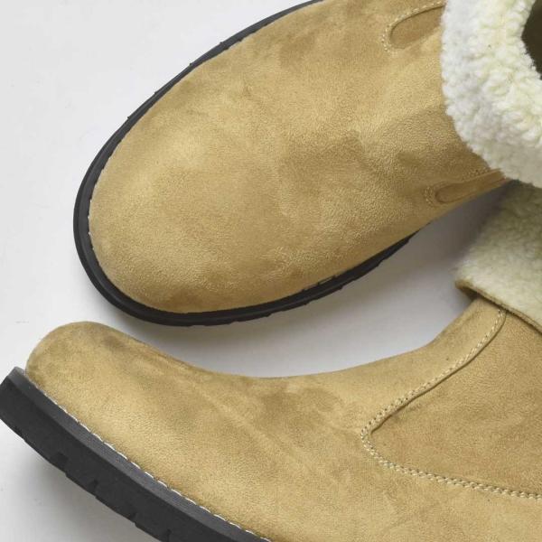 ムートンブーツ ショートブーツ 防寒ブーツ ブーツ メンズ スウェード PU革靴 シューズ 靴 紳士靴 2018 春 春夏|sansuiya|04