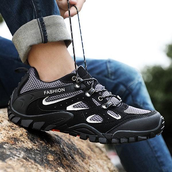 トレッキングシューズ メンズ 合成革靴 アウトドア カジュアル ウォーキング 登山 おしゃれ 紳士 冬|sansuiya|05