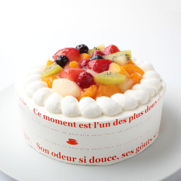 フルーツ生クリームデコレーションケーキ7号:送料無料バースデーケーキ 記念日 お祝いスイーツギフト 敬老の日