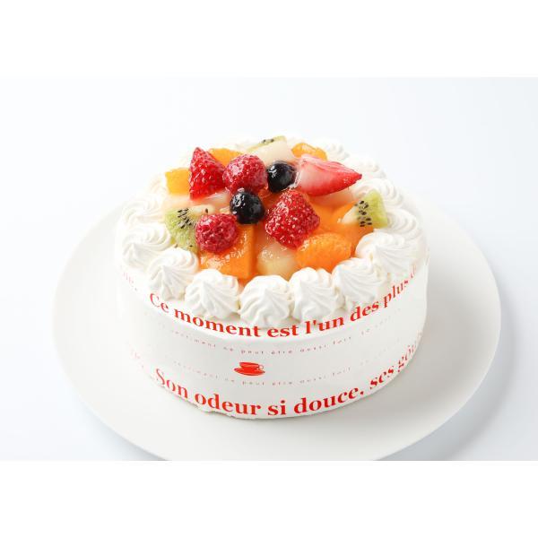 アイスケーキ:バニラカスタード風味のフルーツアイスデコレーションケーキ5号:誕生日ケーキ・贈り物に:送料無料 敬老の日