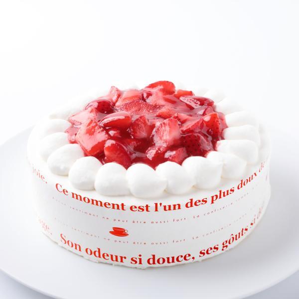 苺の生クリームケーキ8号・バースデーケーキ、誕生日ギフト、お祝いのプレゼント:送料無料 santa-angela