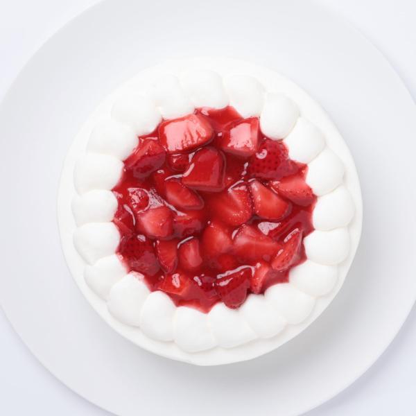苺の生クリームケーキ8号・バースデーケーキ、誕生日ギフト、お祝いのプレゼント:送料無料 santa-angela 02