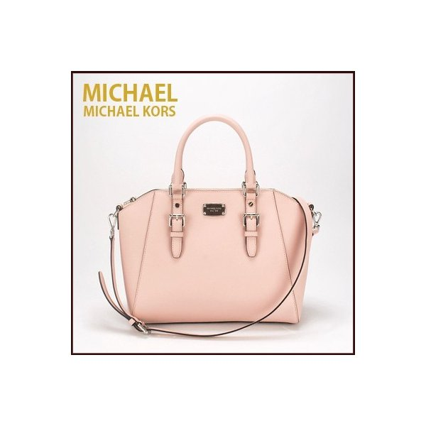 2868b8d4b7b1 マイケルコース MICHAEL KORS ショルダーバッグ 2Way ハンドバッグ LG TZ SATCHEL(ブロッサム ピンク系) ...