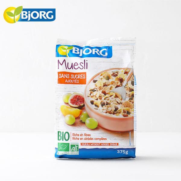ビオルグ(Bjorg)ミューズリー フルーツ&シード 375g 砂糖不使用 シリアル オーガニック JAS 朝食 おやつ オーツ麦 イチジク アプリコット ドライフルーツ