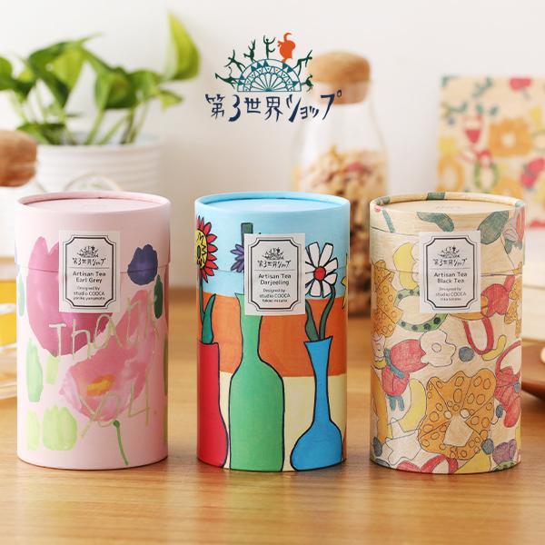 第3世界ショップ Artisan Tea Thank you 花 (アールグレイ) 花びんの花 (ダージリン) フルーツゼリー (ブラックティー)