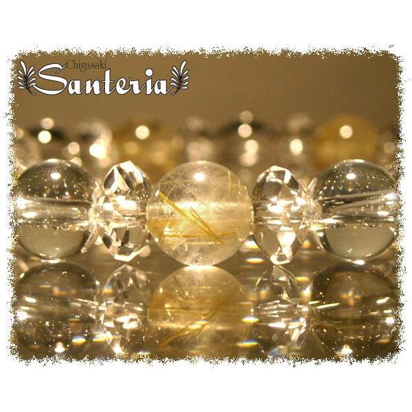 ルチルクォーツ クリスタルクォーツ水晶AAA オリジナルブレス レディース オススメ 天然石 パワーストーン ブレスレット