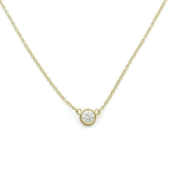 ティファニー TIFFANY ダイヤモンド バイザヤード ペンダント ネックレス 35008322 K18イエローゴールド ダイヤ0.17ct