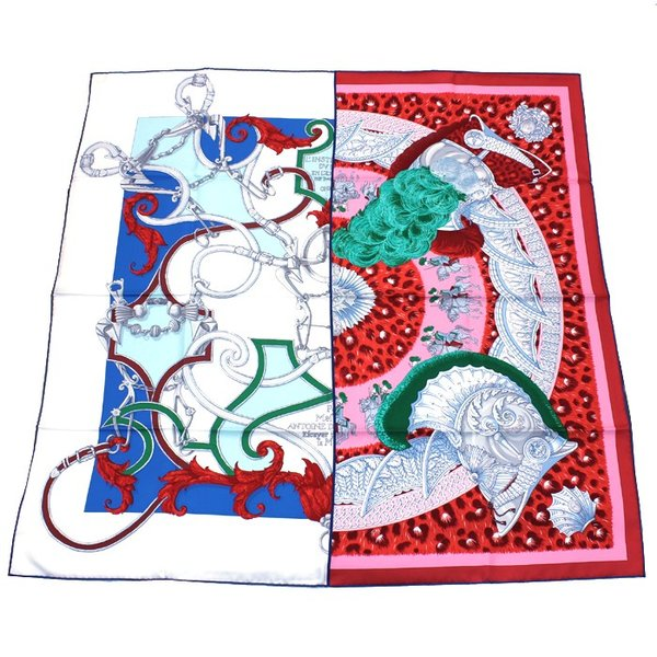 エルメス HERMES カレ スカーフ 王の羽飾り 002867S 09|santnore
