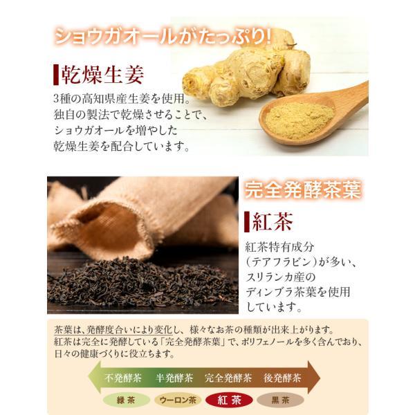 【初回限定】しょうが紅茶(12包)送料無料・セイロン紅茶・高知県産乾燥生姜100%・天然オリゴ糖・紅茶スティック・ポイント5倍|sanwa-y|03