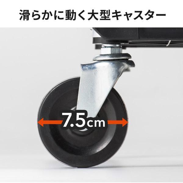ツールワゴン ツールカート 台車 ワゴン 折りたたみ ワゴンカート 作業台 簡単収納 キャスター付き 軽量 3段|sanwadirect|10