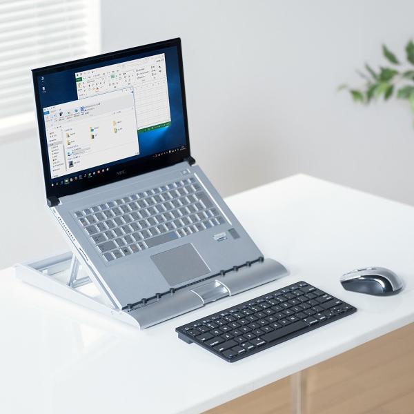 ノートパソコンスタンド  折りたたみ 高さ調節(即納)|sanwadirect|15
