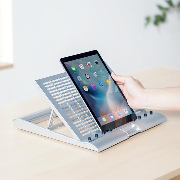 ノートパソコンスタンド  折りたたみ 高さ調節(即納)|sanwadirect|07