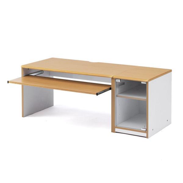 ローデスク 幅120cm パソコンデスク ロータイプ デスク 木製 コンパクト 収納 勉強 学習 机(即納) sanwadirect 15