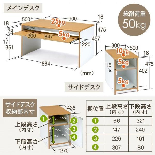 ローデスク 幅120cm パソコンデスク ロータイプ デスク 木製 コンパクト 収納 勉強 学習 机(即納) sanwadirect 06