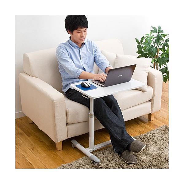 サイドテーブル ベットサイド テーブル ノートパソコン デスク スタンド(即納)|sanwadirect|08