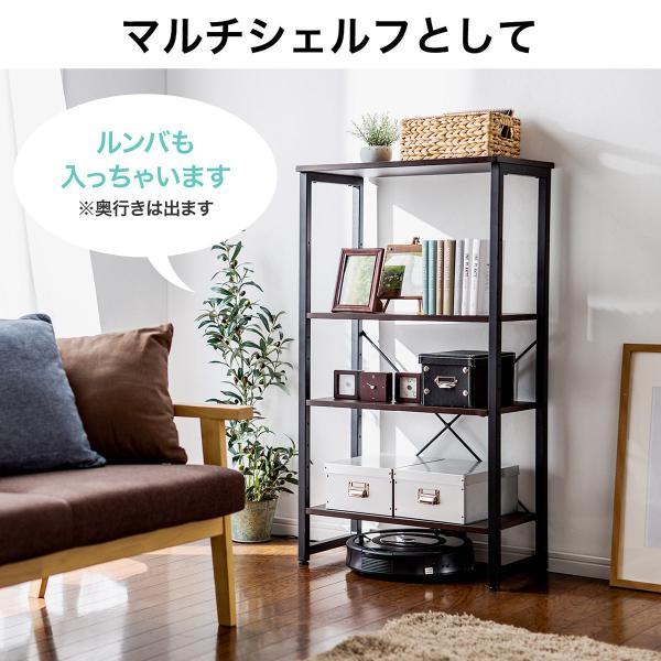 シェルフ 幅60cm マルチラック キッチンワゴン コンパクト 奥行き35cm 木製天板 スチール(即納)|sanwadirect|08