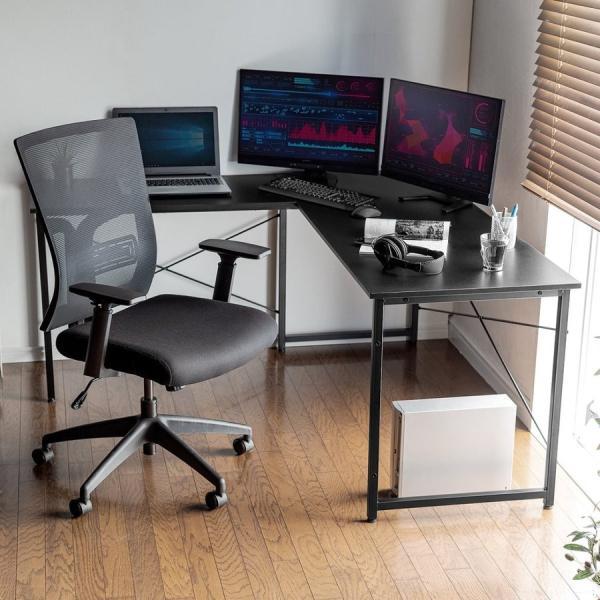 L字デスク パソコンデスク PCデスク おしゃれ 木製 ワイド L字型d sanwadirect 14