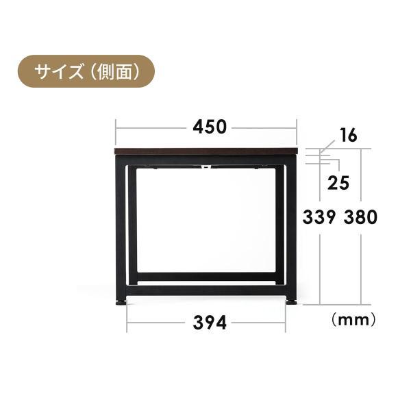 ローデスク 幅80cm パソコンデスク ロータイプ デスク ローテーブル 座デスク 勉強 学習 机 おしゃれ(即納)|sanwadirect|17