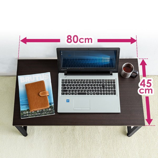 ローデスク 幅80cm パソコンデスク ロータイプ デスク ローテーブル 座デスク 勉強 学習 机 おしゃれ(即納)|sanwadirect|03