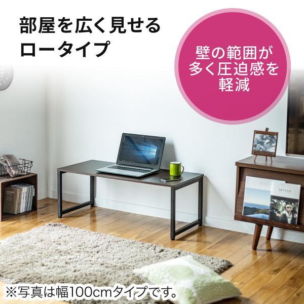 ローデスク 幅80cm パソコンデスク ロータイプ デスク ローテーブル 座デスク 勉強 学習 机 おしゃれ(即納)|sanwadirect|04
