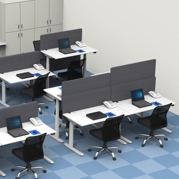 デスクトップパネル 仕切り 卓上 衝立 デスクパーテーション フェルト クランプ式 幅120cm オフィス(即納)|sanwadirect|13