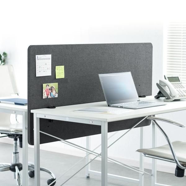 デスクトップパネル 仕切り 卓上 衝立 デスクパーテーション フェルト クランプ式 幅120cm オフィス(即納)|sanwadirect|19