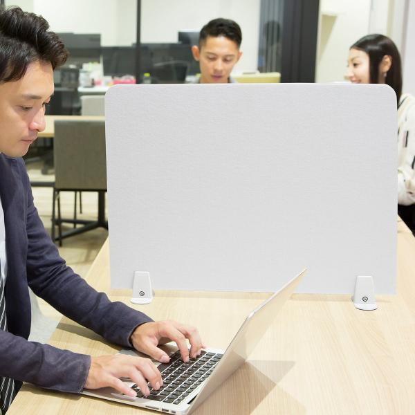 デスクトップパネル デスクパーティション 衝立 デスク パーテーション フェルト 600mm スタンド式 幅60cm 置き型|sanwadirect|13