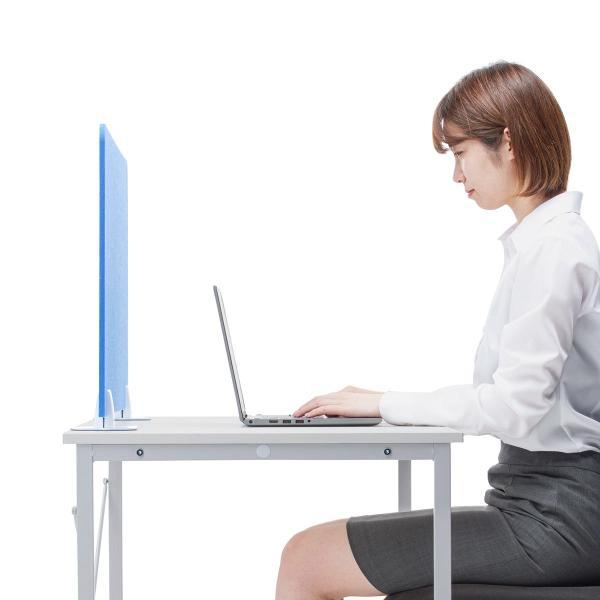 デスクトップパネル デスクパーティション 衝立 デスク パーテーション フェルト 600mm スタンド式 幅60cm 置き型|sanwadirect|14