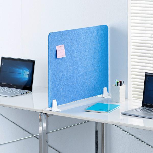 デスクトップパネル デスクパーティション 衝立 デスク パーテーション フェルト 600mm スタンド式 幅60cm 置き型|sanwadirect|19