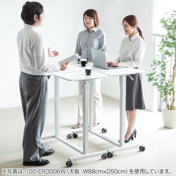 スタンディングデスク ガス圧 スタンディングテーブル 昇降式 幅60cm 奥行45cm  上下昇降 キャスター付き(即納)|sanwadirect|15