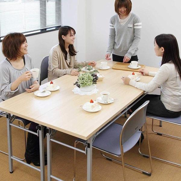 会議用テーブル 会議テーブル 折りたたみ 長机 幅180cm 奥行60cm 平机(即納) sanwadirect 15