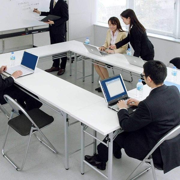会議用テーブル 会議テーブル 折りたたみ 長机 幅180cm 奥行60cm 平机(即納) sanwadirect 16