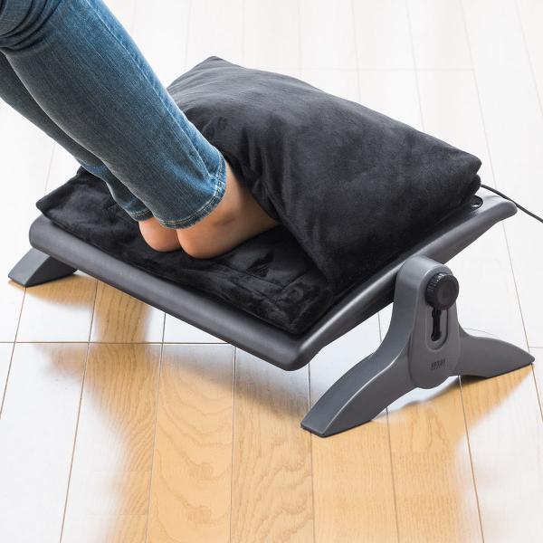 あったか フットレスト クッション 足置き 足元 暖房 足の温めに(即納)|sanwadirect|19