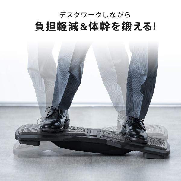 バランスボード 体幹トレーニング フットレスト 足置き エクササイズ ダイエット(即納) sanwadirect 02
