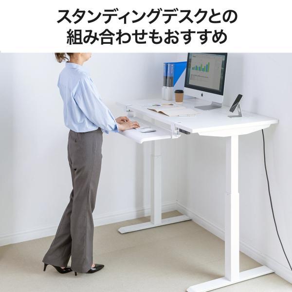 キーボードスライダー キーボード 収納 追加 後付け スペース デスク 置き スライド 机下 テーブル(即納)|sanwadirect|09