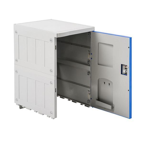 ロッカー プラスチックロッカー 幅38.2cm 奥行50cm 高さ62cm プラスチック製 軽量 縦横連結可能 工具不要 簡単組立 ブルー(即納)|sanwadirect|04