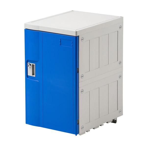 ロッカー プラスチックロッカー 幅38.2cm 奥行50cm 高さ62cm プラスチック製 軽量 縦横連結可能 工具不要 簡単組立 ブルー(即納)|sanwadirect|05