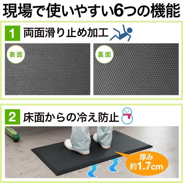 疲労軽減 マット 立ち作業 滑り止め 冷え防止 幅150cm(即納)|sanwadirect|03