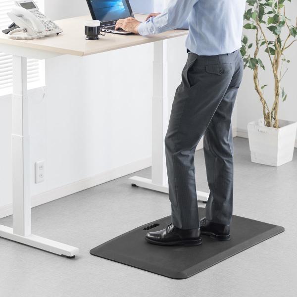 疲労軽減マット 腰痛 対策 滑り止め機能 立ち仕事対策 耐水 作業 工場(即納)|sanwadirect|16