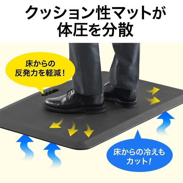疲労軽減マット 腰痛 対策 滑り止め機能 立ち仕事対策 耐水 作業 工場(即納)|sanwadirect|03