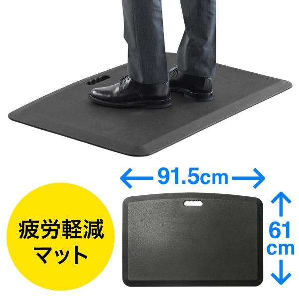 疲労軽減マット 腰痛 対策 滑り止め機能 立ち仕事対策 耐水 作業 工場(即納)|sanwadirect|18
