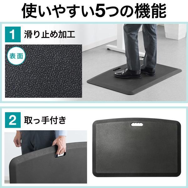 疲労軽減マット 腰痛 対策 滑り止め機能 立ち仕事対策 耐水 作業 工場(即納)|sanwadirect|05
