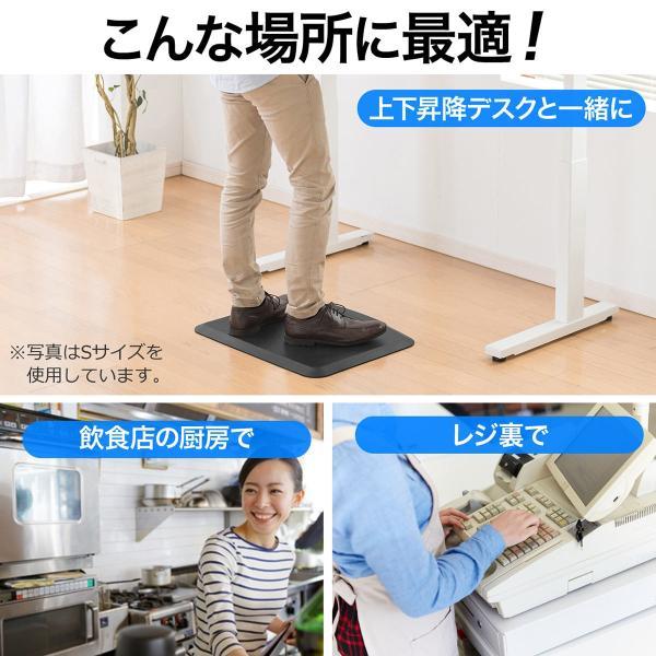 疲労軽減マット 腰痛 対策 滑り止め機能 立ち仕事対策 耐水 作業 工場(即納)|sanwadirect|07