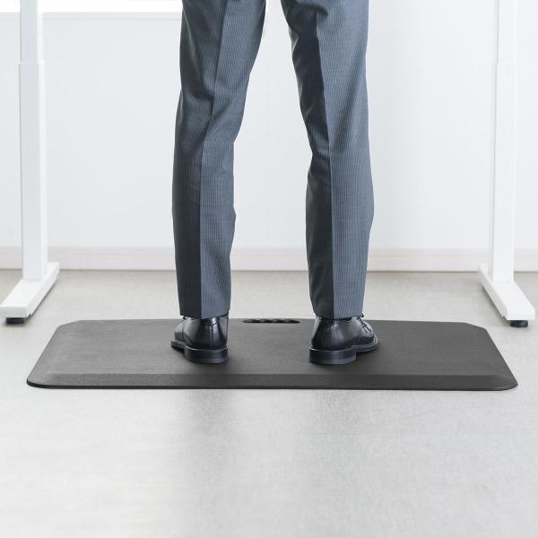 疲労軽減マット 腰痛 対策 滑り止め機能 立ち仕事対策 耐水 作業 工場(即納)|sanwadirect|09