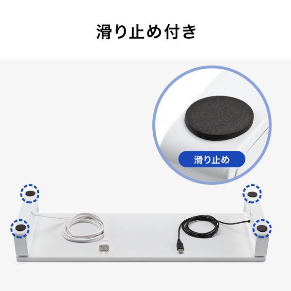 モニター台 USBポート 電源タップ 机上台 液晶 パソコン台 モニター 液晶モニター台 机上ラック(即納)|sanwadirect|12