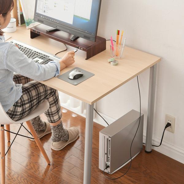 モニター台 液晶 USBハブ 木目 sanwadirect 10