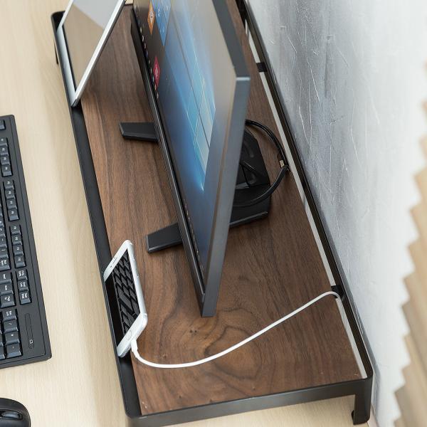 モニター台 机上台 木製 卓上 PC タブレット 液晶 天然木 幅75cm 奥行28cm|sanwadirect|09