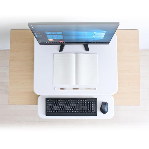 昇降式デスク スタンディングデスク 高さ調整 コンパクト(即納)|sanwadirect|12