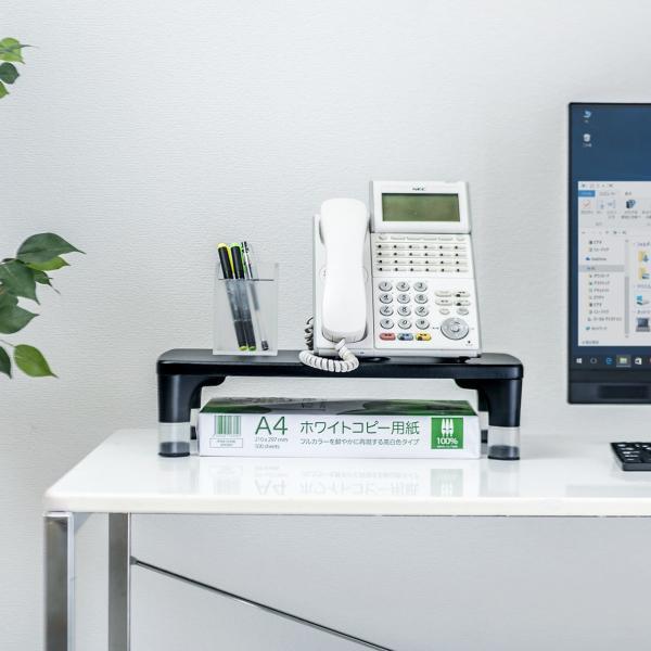 モニター台 パソコン 机上台 液晶 高さ調整|sanwadirect|12